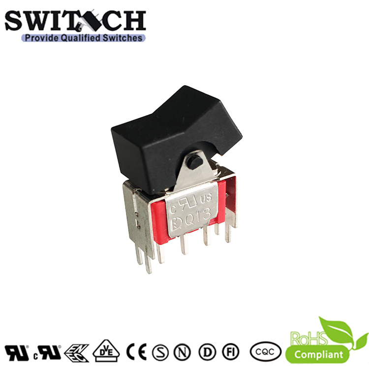 3MS1SWJ102VS2QES free sample ON-OFF 3 pins round waterproof rocker switch