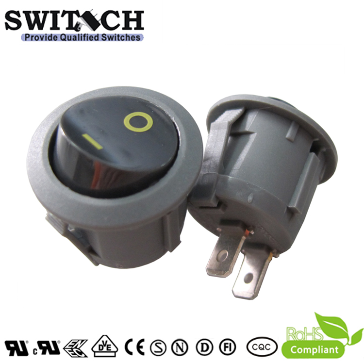 KAN-B2-SW25P17 paddle switch 2 pins ON-OFF SPST miniature rocker switch
