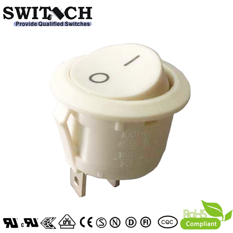KAN-B2-25P71V paddle switch ON-OFF SPST round white rocker switch with 2 pins uesd  for panasonic sweeping machine