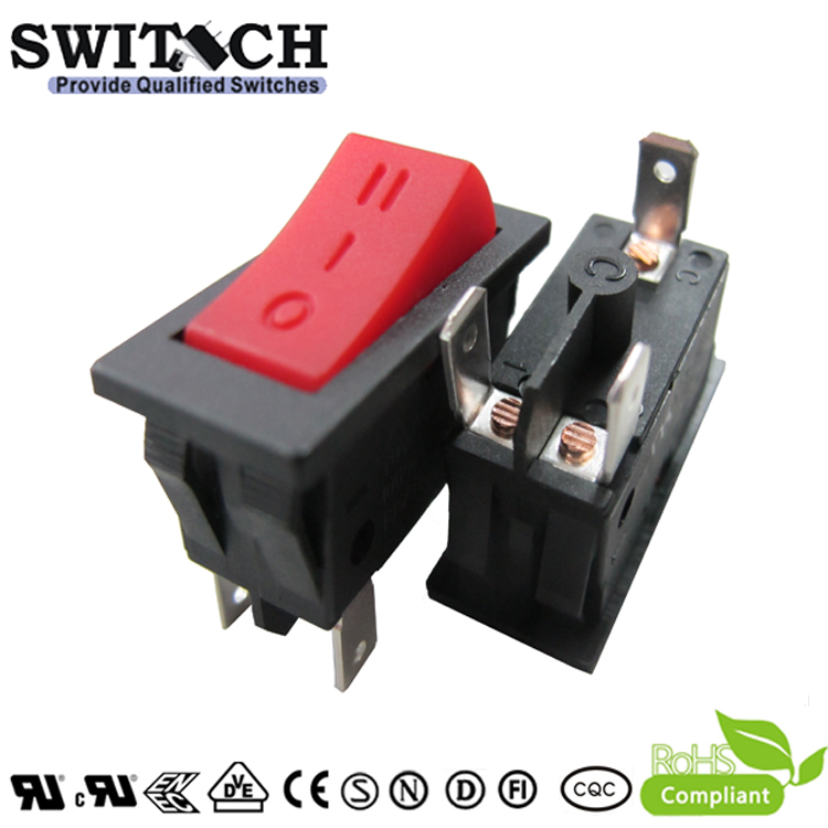 KAN-D2 three grears 10(10)A 0-1-2 SPD rocker switch for hair driver