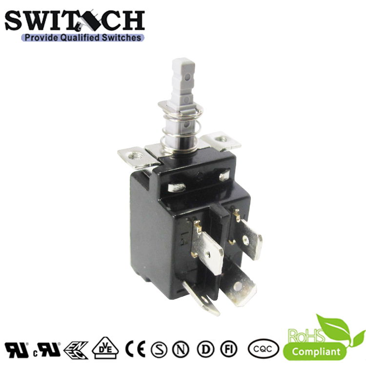 KDC-A04-006-60 SPST momentary 8A power push button switch with ENEC