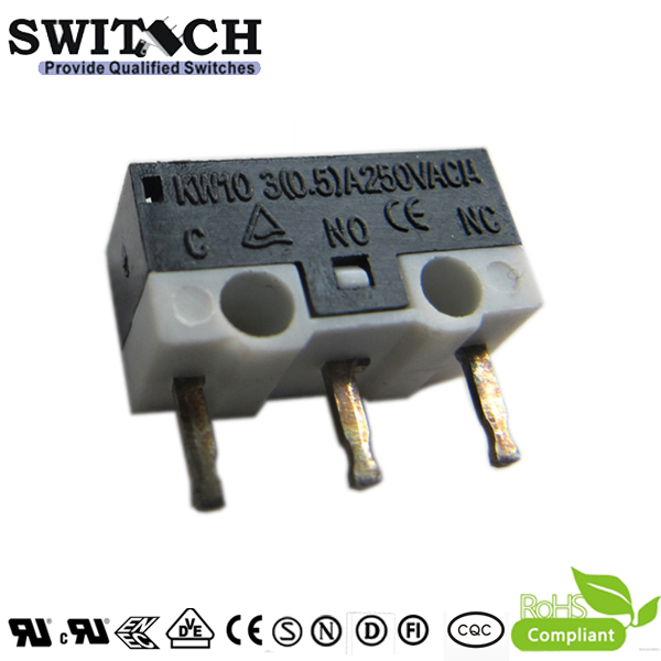 KW10-ZSW0P075-08 Gold Plated PCB Terminal Micro Switch