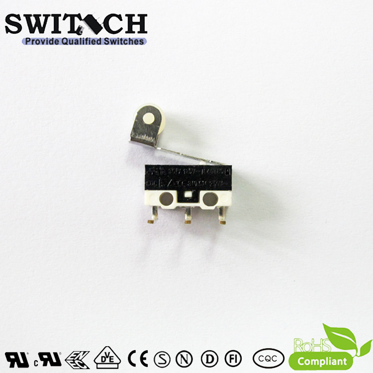 KW10-ZSW5L150 Mini Snap Action Switch with Left -angle PCB Terminal /roller level
