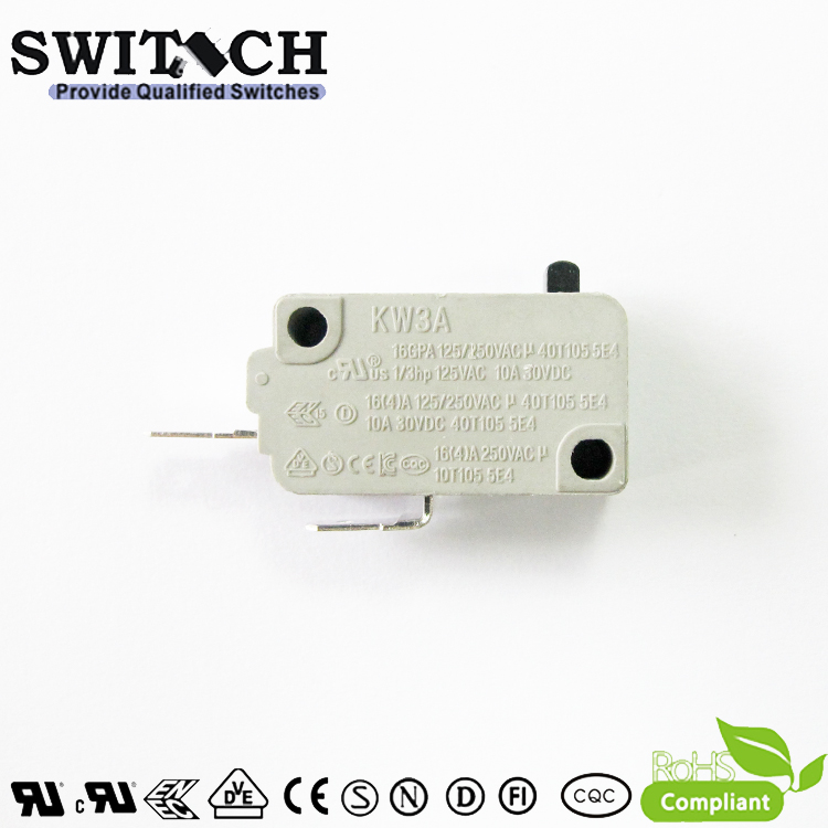 KW3A-16TSW0-B200  16A KW3A Snap Action Switch Normally Open-No