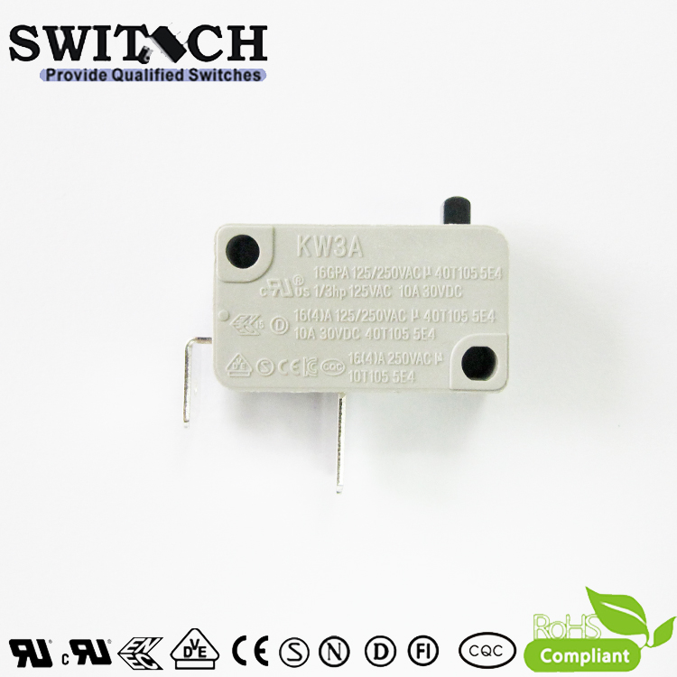 KW3A-16TSW0B-Y200-02 16A KW3A Snap Action Switch Normally Open-NO