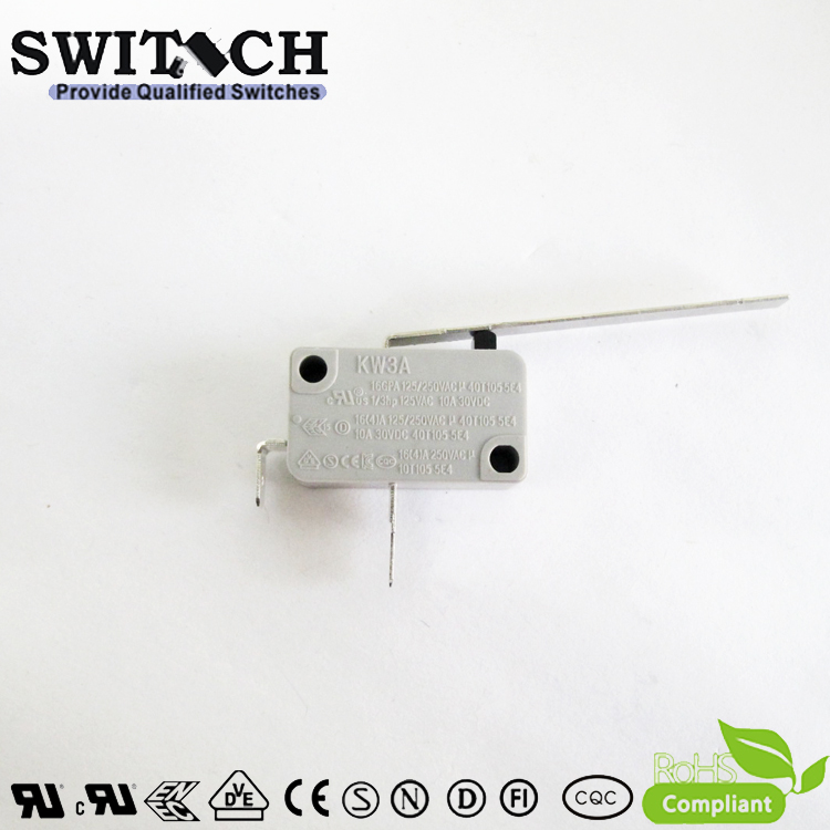 KW3A-16TSW2B-C200-04  16A KW3A Snap Action Switch Normally Open-NO