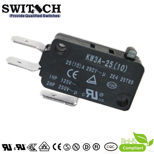 KW3A-25(10)ZSW0-A200 High Current 25A Snap Action Switch Panasonic Special