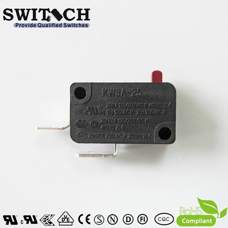 KW3A-25TSW0B-A200B-B  High Current 25A Snap Action Switch