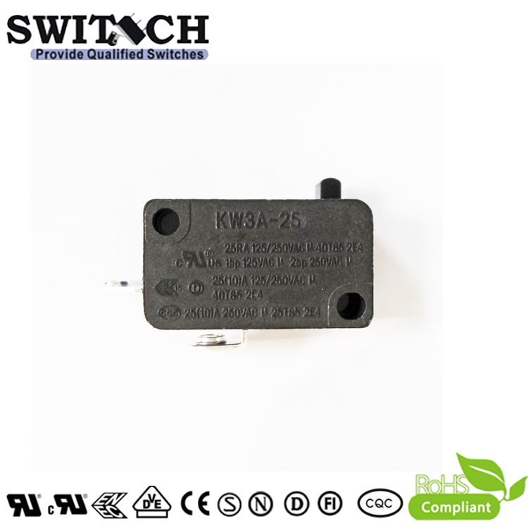 KW3A-25TSW0B-E100 High Current 25A Snap Action Switch