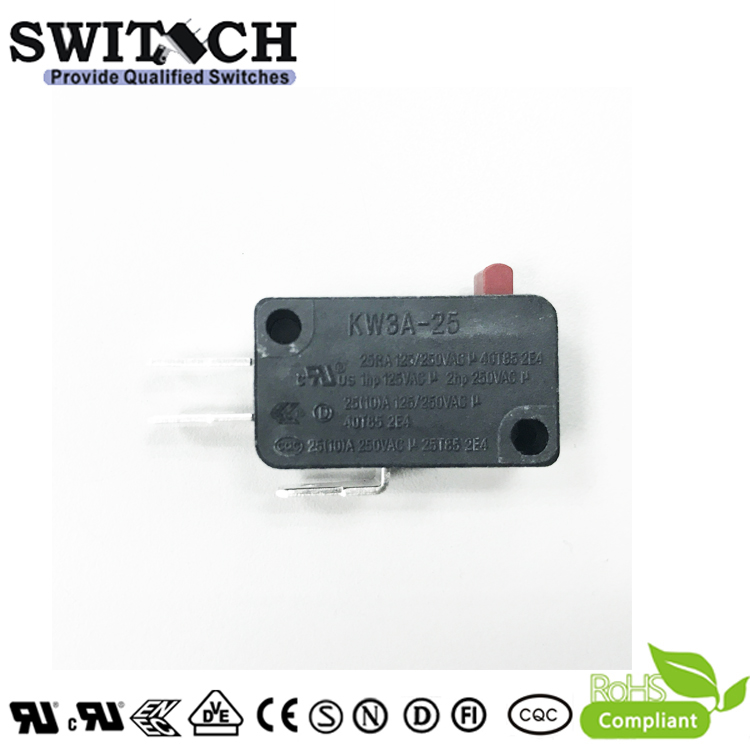 KW3A-25ZSW0B-B100B  High Current 25A Snap Action Switch