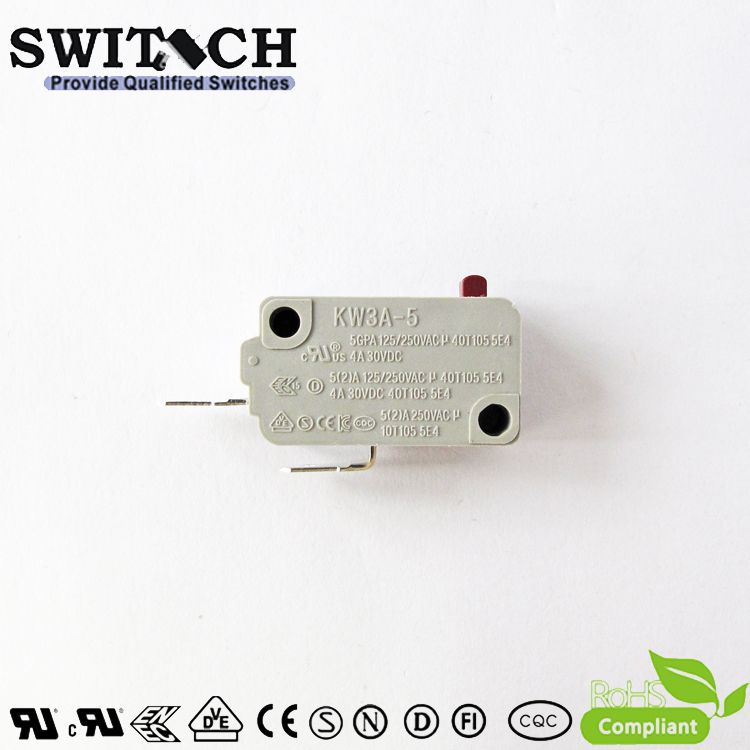 KW3A-5TSW0-C075A-08 Black Snap Action Switch 5A Omron/Cherry Subsitute