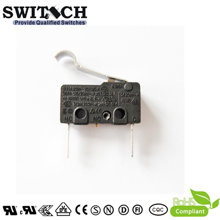KW4A-DSWB2ST400A Competitive Mini Switch from China Factory SWITECH with Roller
