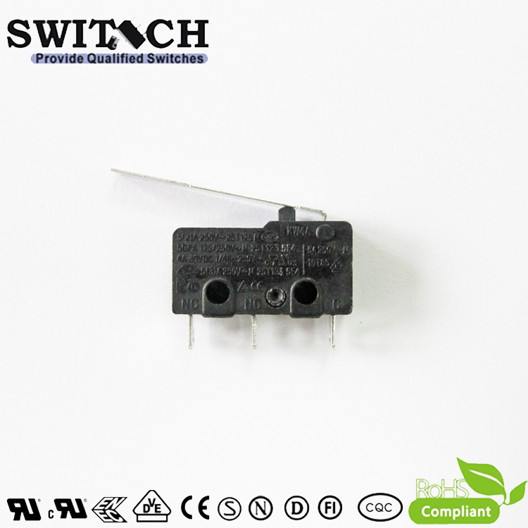KW4A-ZSW2SF200 Mini Snap Action Switch Zippy Equivalent used for Vacuum Cleaner
