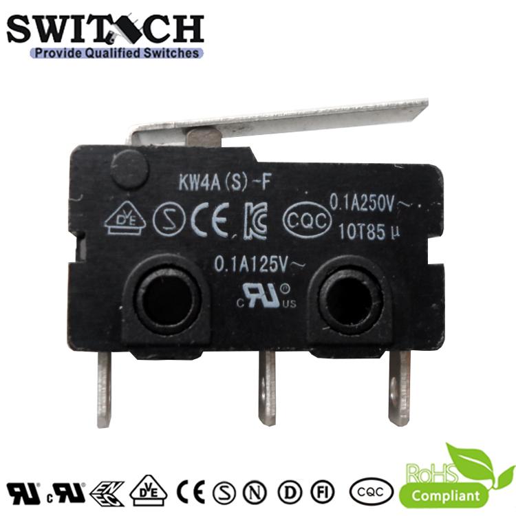 KW4A(S)-FZSW3F150-08  Glod plated Mini Switch