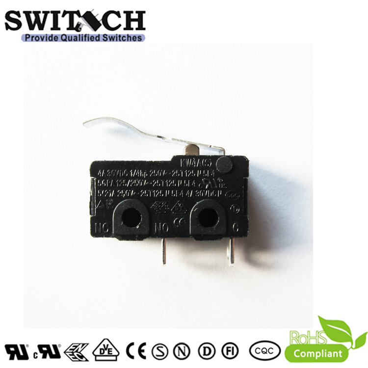 KW4A(S)-TSW6CF150-08  Mini Snap Action Switch Manufacturer SWITECH SPST /PANASONIC   Gold plated
