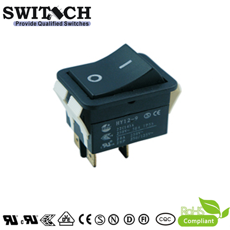LR-210-SWC5N-BR 30A IP55 ON-OFF 4pins DPST rocker switch for electric welding machine