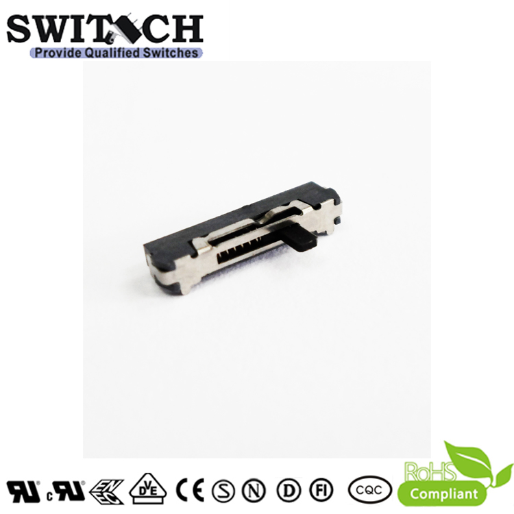 MSK-SW-03Q 4 Pins Small Black 2.DC 12V 100mA  Welding terminal Slide Switch
