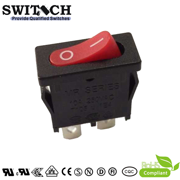 MR-2-SW110-C5N-BR hight electrical 2pins, ON-OFF rocker switch with waterproof cover