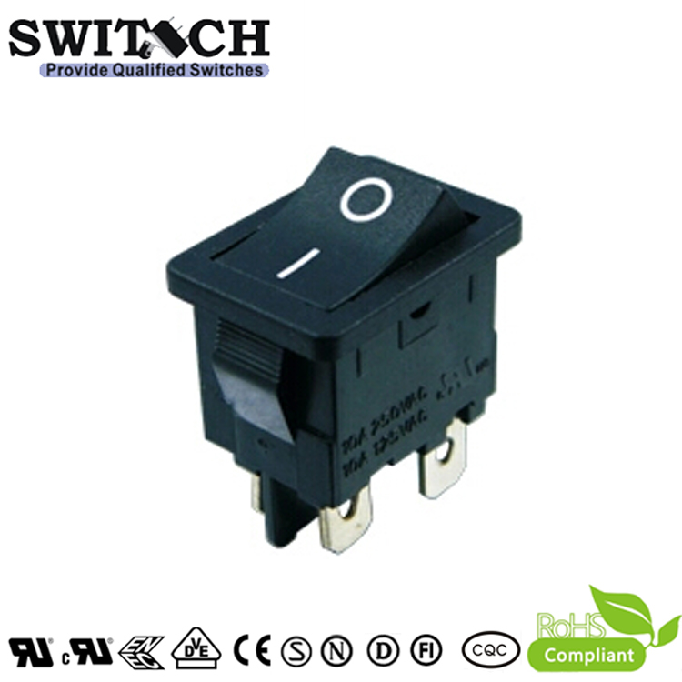 MR-6-SW210-C5N-BB paddle switch 10A 4 pins ON-OFF rocker switch with waterproof cover