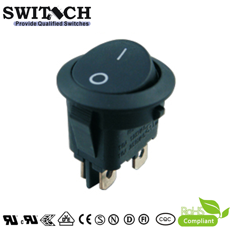 MR-6A-SW210-C5N-BB ON-OFF 20mm oval 4pins DPST rocker switch for medical machine