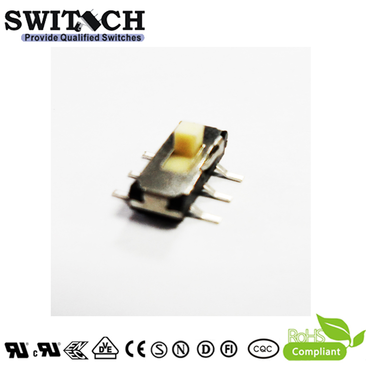 MSK-12C01-07 Mini Small SMT 4 Pins 4 Ways Metal Slide Switch for Electronics