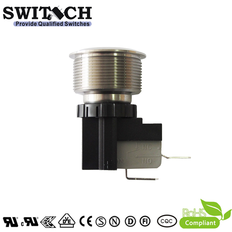 MW25-A0F0E00-A5TA anti-vandal waterproof metal push button switch with highcurrent