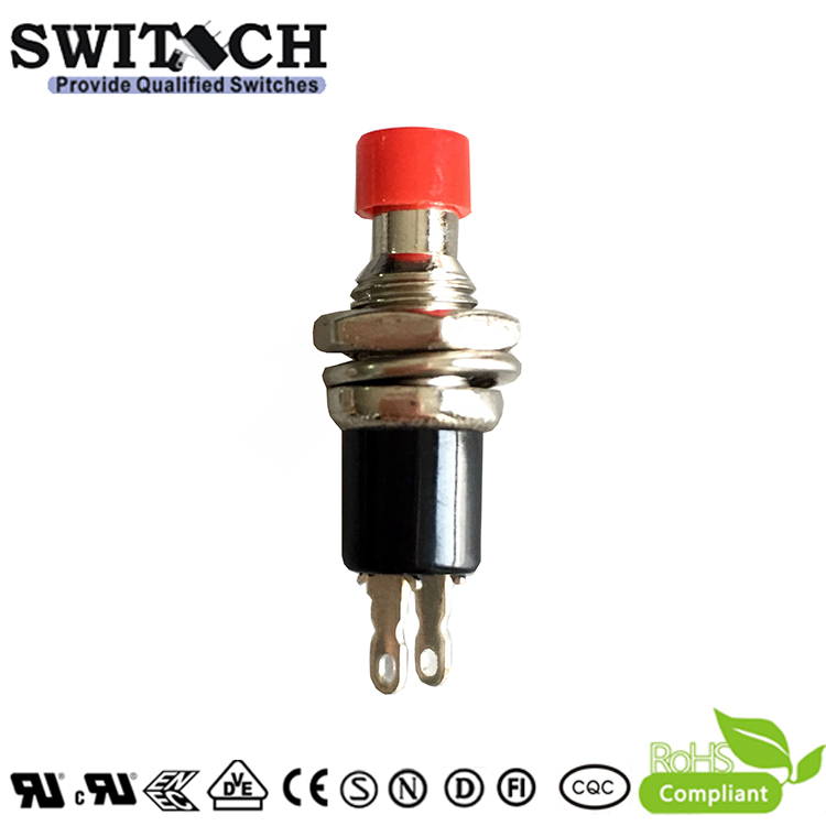 PB05-B-SW-R momentary push button SPST switch with red button