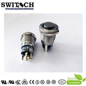 ZLQ19 anti-vandal water-resistant metal push button switch Simon replacement