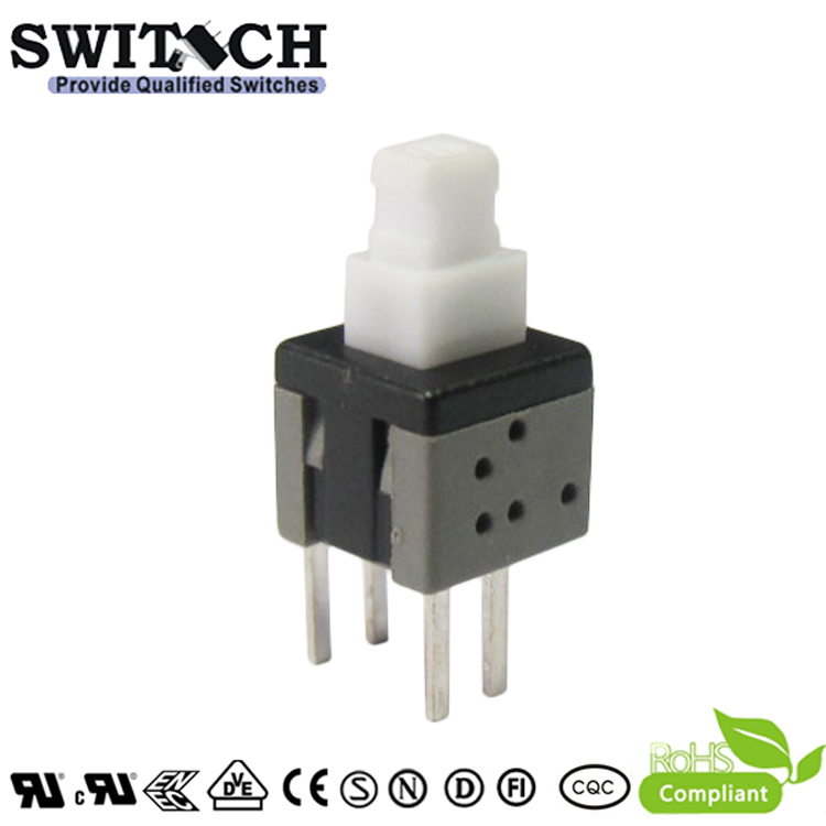 PS585-L-4 lock push button switch 5.8×5.8mm pushbutton switch with 4 pins