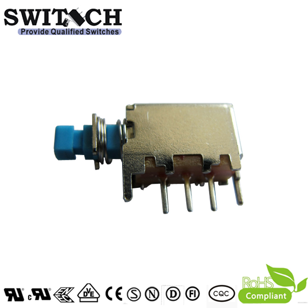 PS-12E15 single pole momentary push button switch with 3 pins