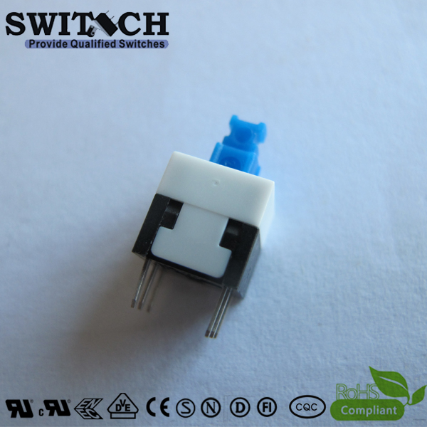 PS-8458 DPDT push button switch locked or momentary,Ratings 300mA 50VDC power supply