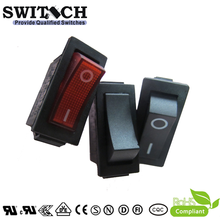 R11-15SW1 SPST 2 pins 250 solder terminal momentary on-off rocker switch with light