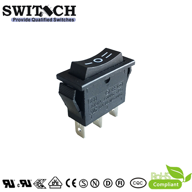 R11-11SW3 SPDT  3 pins  on-off-on rocker switch with light