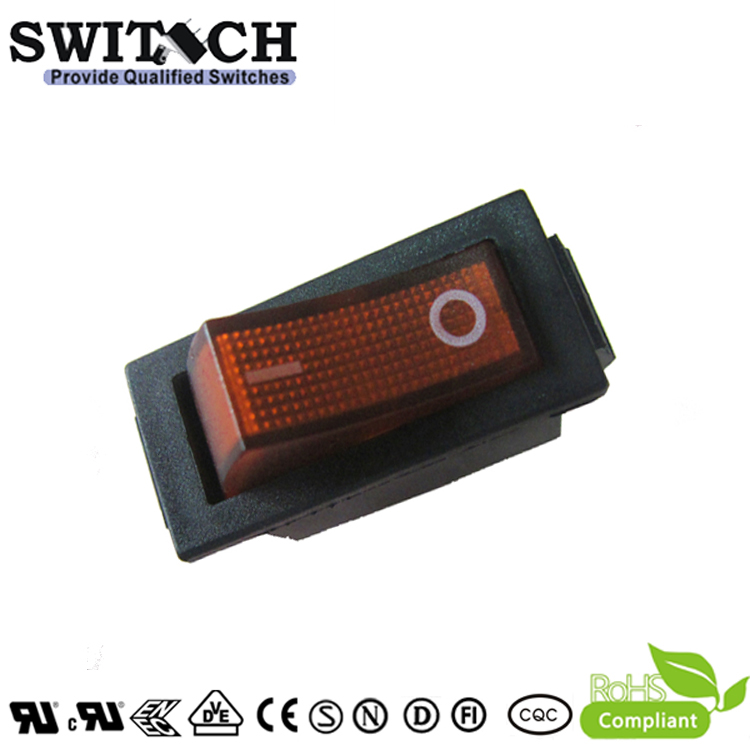 R11-15SW2.15SW5.15SW12 SPDT 3pins momentary on-off rocker switch with red light