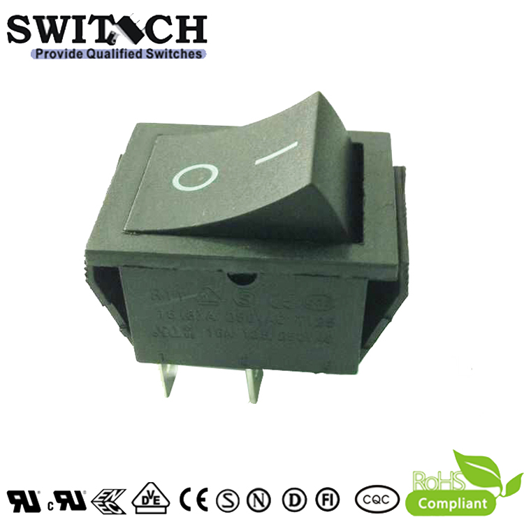 R11-22SW1.22SW4 ON-OFF, 4pins, oblong rocker switch with waterproof cap and light used for jogging machine
