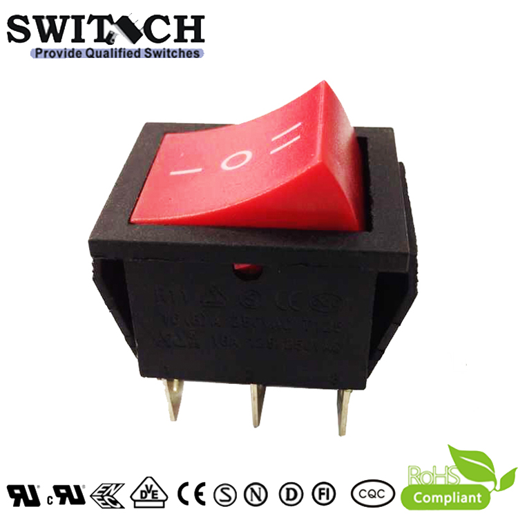 R11-22SW2.22SW5 DPDT momentary ON-OFF-ON 6 pins waterproof rocker switch for running machine