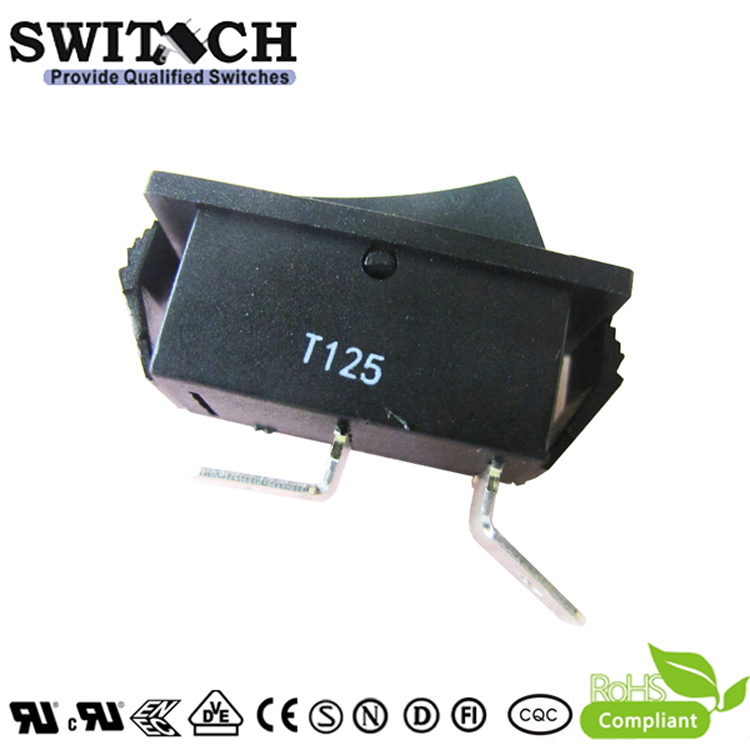 R11-51SW1BB good quality paddle switch SPST 2 pins T125 rocker switch