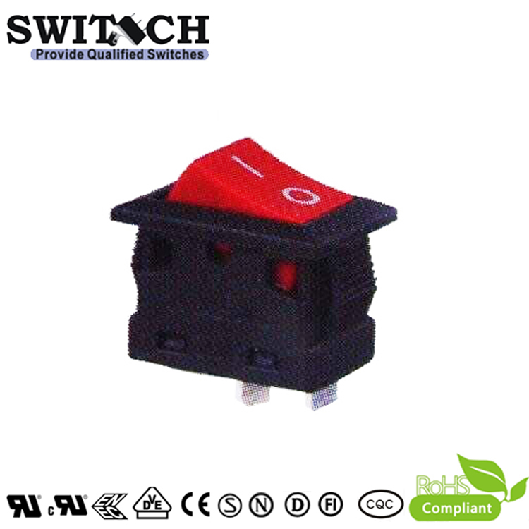 R15-31SW1R on-off SPDT with waterproof rocker switch with red actuator for home appliance