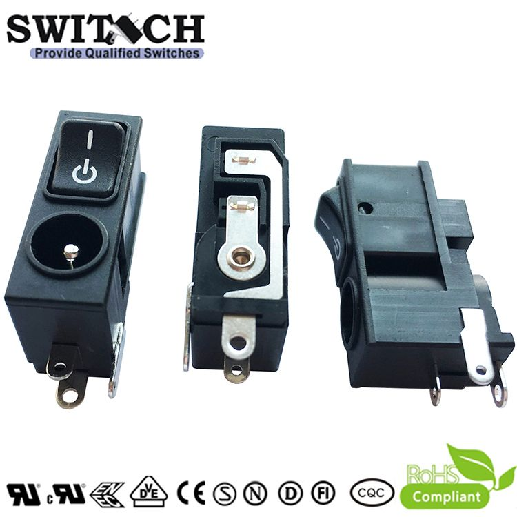 RJ-002SW pins ON-OFF SPST rocker switch for ECOVRCS vacuum cleaner robot
