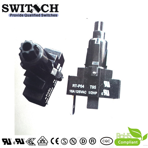 RT-P04 16A pushbutton switch momentary factory supplier,Single-Pole Single -Throw (SPST)