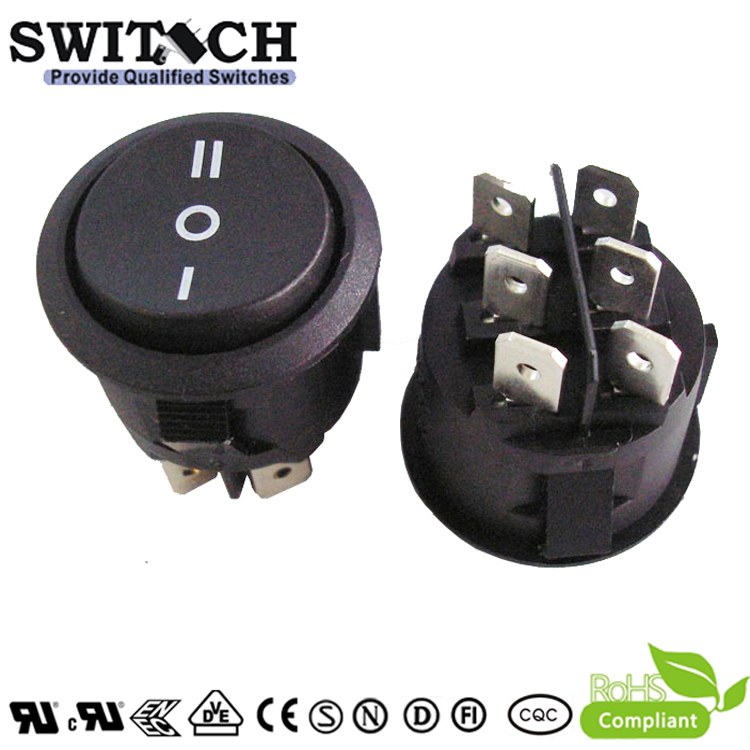 RT-S05-SW2 6 pins 0n-off-on momentary DPDT rocker switch for soybean milk machine and juice extractor