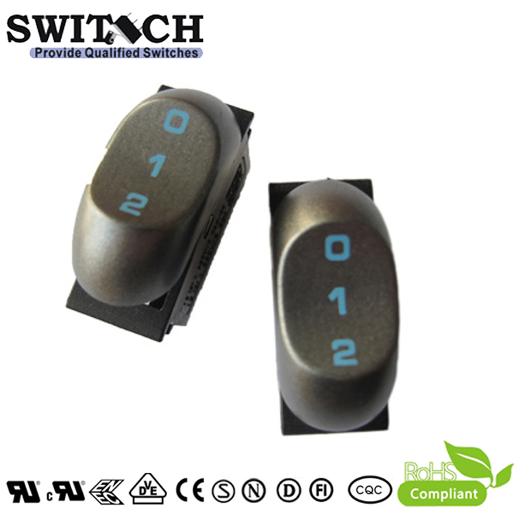 RT-S08B-SW1GBBN high quality 3 pins 3 grears rocker switch used for household appliances