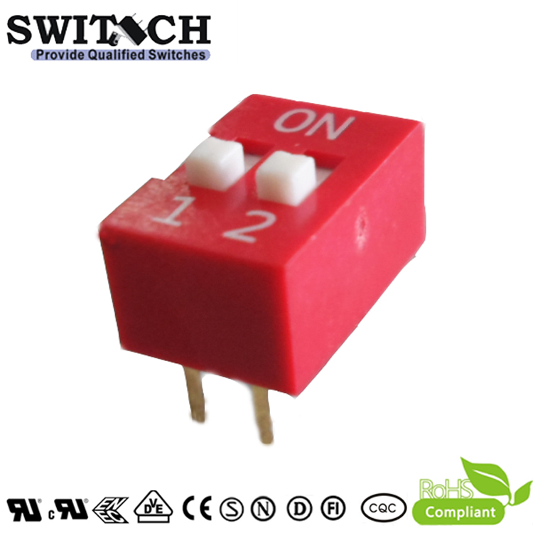 SW10-DS-02A 2Pins Code Switch DIP Switch Piano Push Switch