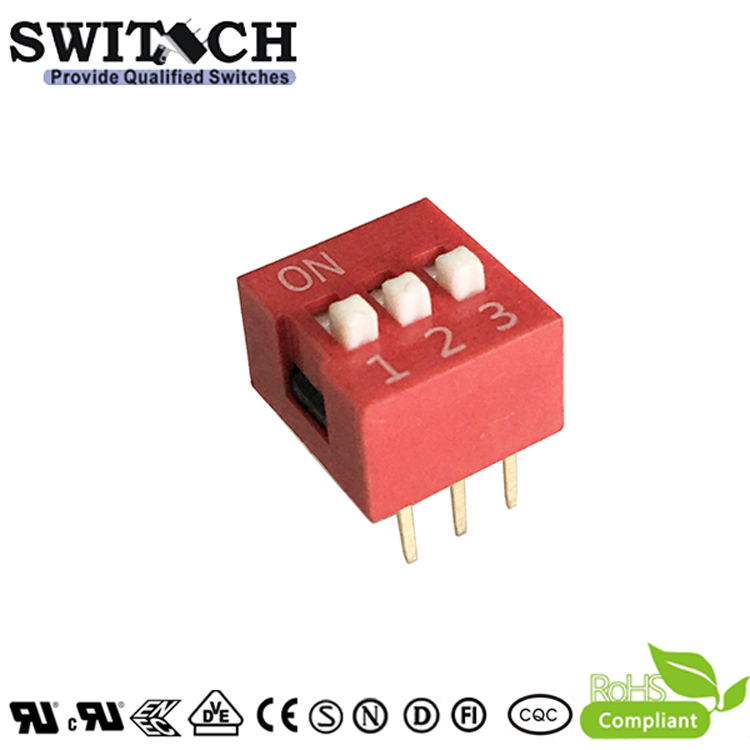 SW10-DS-03(R) 3Pins Code Switch DIP Switch Piano Push Switch