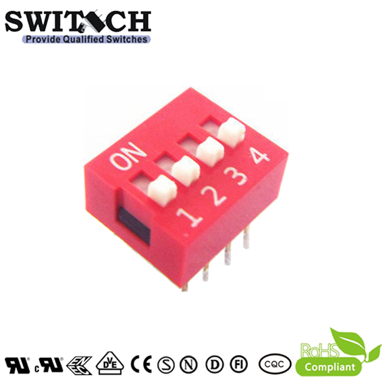 SW10-DS-04 4Pins Code Switch DIP Switch Piano Push Switch