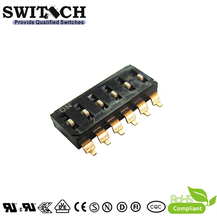 SW50-DTS-EMR-06 6Pins Code Switch DIP Switch Piano Push Switch