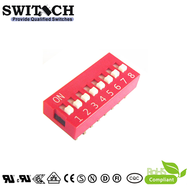 SW10-DS-08 8Pins Code Switch DIP Switch Piano Push Switch
