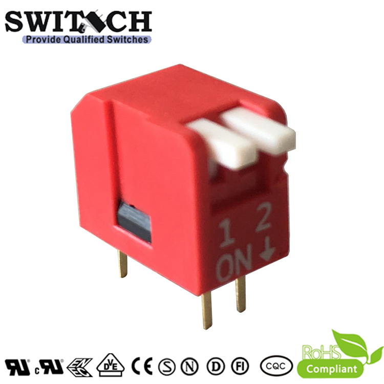 SW13-DPL-02(R)-T 2Pins Cabriole leg  Switch DIP Switch Piano Push Switch