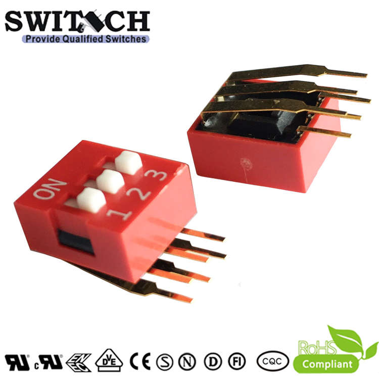SW11-DA-03 1Pins Cabriole leg  Switch DIP Switch Piano Push Switch