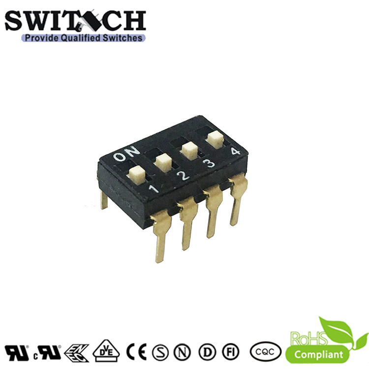 SW50-DTH-04L 4Pins Code Switch DIP Switch Piano Push Switch